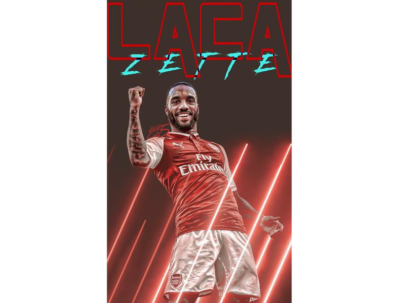 Lacazette typography branding magzine football kit football arsenal sport graphic design design photoshop lacazette