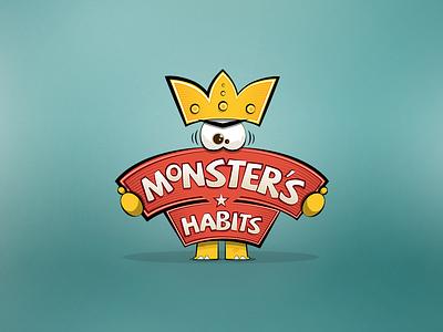 Monster Habits Logo logo emblem branding brand icon sign symbol identity design logotype logo design game