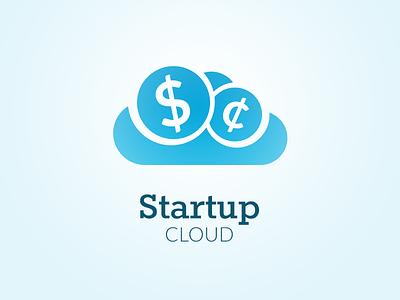 Startup Cloud logo design logotype design identity symbol sign icon brand branding mark emblem logo