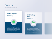Join us — career cards