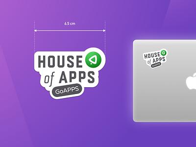 GoAPPS Sticker! branding emblem logo brand sticker sticker design design badge icon affinity designer mark patch funny