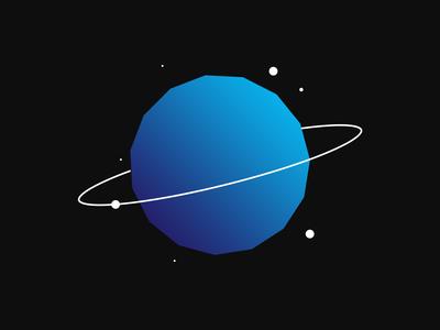 Planet flat designer