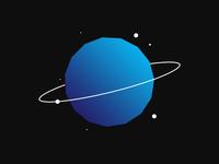 Planet flat designer website logo digital ux design web design wordpress vector brasil photoshop illustration