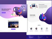 Landing page illustrator app ux typography logo photoshop design ui wordpress brasil