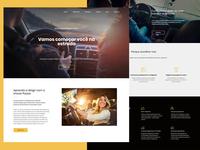Driving School-Official Website driving school website branding ui ux design illustration photoshop dribbble web design brasil concept car