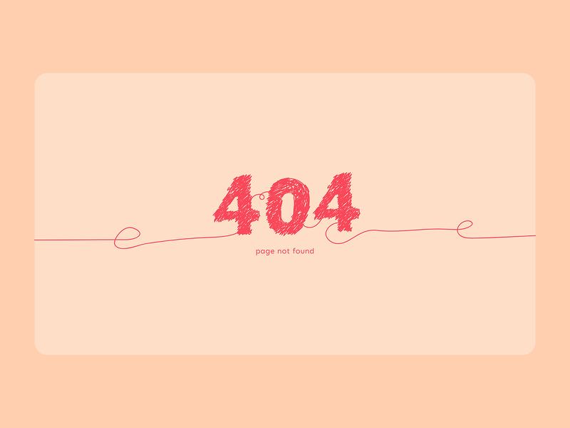 DailyUI 8 - 404 Page
