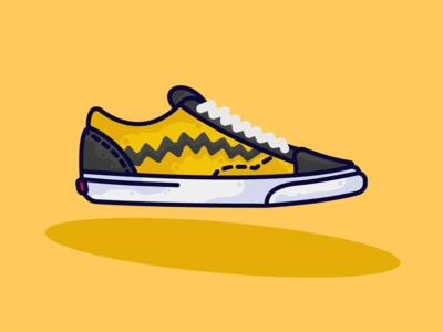 Vans X Peanuts illustration vector flat design art 2d artist 2d art 2d
