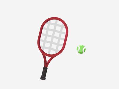 Tennis Racket illustration vector flat design art 2d artist 2d art 2d