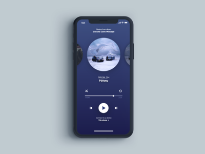 UI project for audio player
