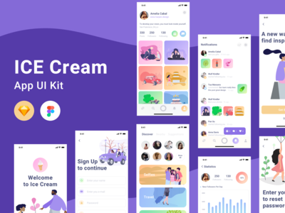 Ice Cream UI Kit