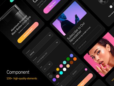 Component (Sketch & Figma) sketch figma productivity voice website design fashion media ecommerce website design uikit web minimal clean ux ui