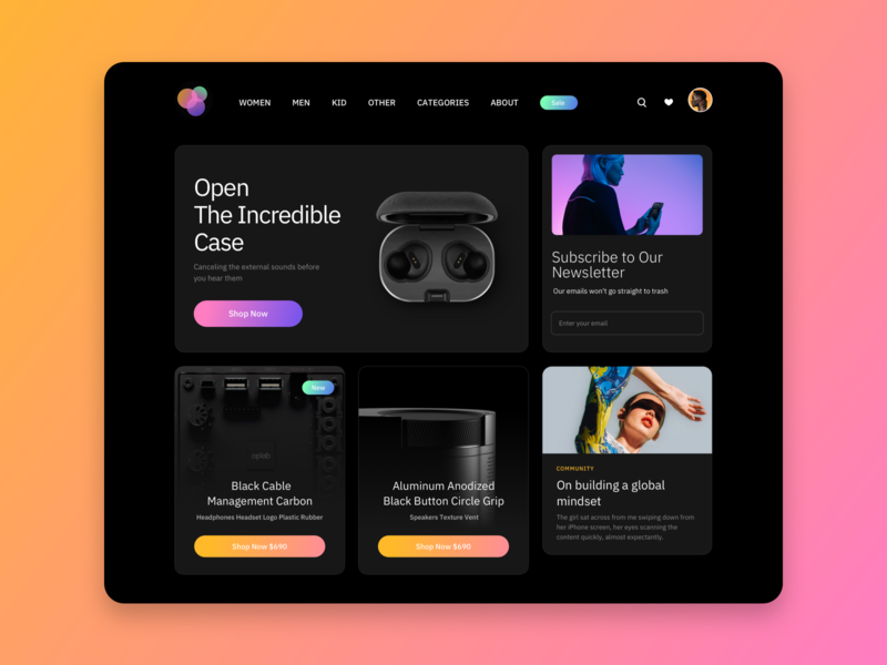 Component Homepage Sample