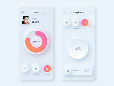 Skeuomorph Ui Kit (Sketch & Figma) social wallet banking charts sketches uikit ecommerce finance modern skeuomorphism skeuomorphic skeuomorph app design minimal clean ux ui