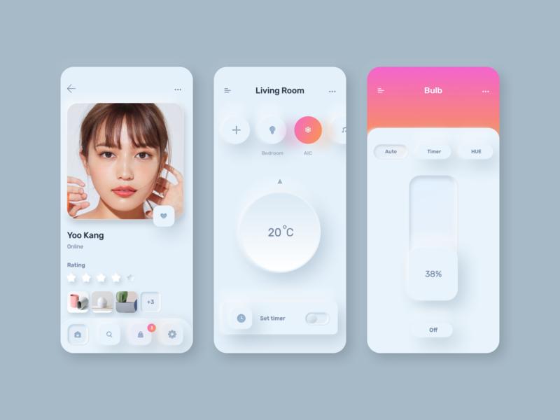 Skeuomorph Kit tech app uikit figma sketch smart home smarthome minimalism skeuomorph app neuomorphism skeuomorphism skeumorphic design minimal clean ux ui