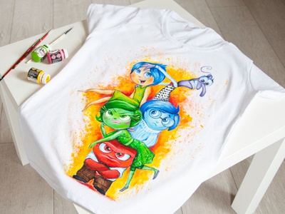 Hand painted t shirt, custom t shirt, hand painted clothes drawing apparel paint wear style fashion hand-painted design handmade painting