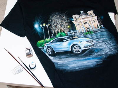 hand-painted T-shirt, customization, drawing with photo apparel style fashion hand-painted handmade design painting