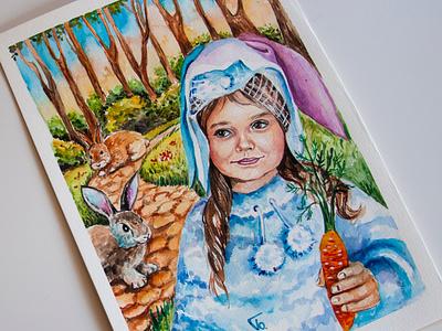 book illustration, children's book, watercolor sketching, watercolor book illustration paint painting