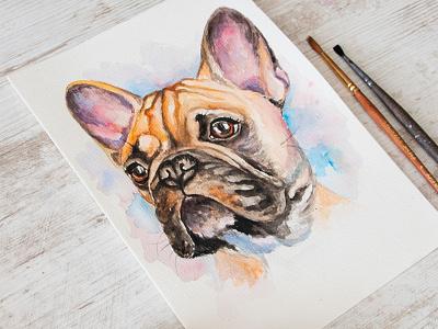 Portrait of a dog, watercolor portrait of a dog, portrait custom portrait pet portrait watercolor portrait dog portrait paint painting