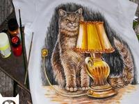 Hand-painted clothing, handmade, T-shirt