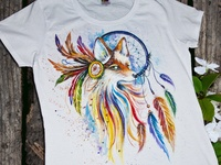 Hand-painted clothing, fox and