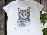 Hand-painted clothing, cat