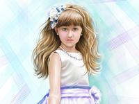 digital drawing, portrait, girl