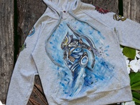 Hand-painted clothing, hoody