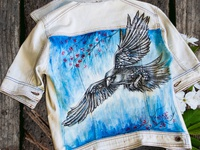 Hand-painted clothing, jacket