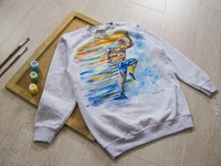 Hand-painted clothing, sweatwear