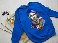 Hand-painted clothing, sweatshirt  for a boy