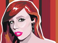 vector portrait, digital image of Sonia