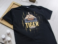Hand-painted clothing, t-shirt, world of tanks