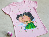 Hand-painted clothing, t-shirt
