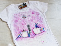 Hand-painted t-shirt for a dentist