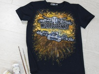 Hand-painted t-shirt, world of tanks