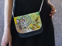 Hand-painted bag for the girls