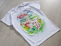 Hand-painted t-shirt for a girl, ukrainian girl