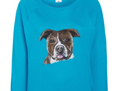 Hand-painted sweatshirt, portrait of your pet