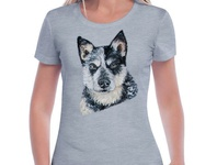 Hand-painted T-shirt with the dog