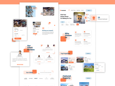 REAL ESTATE Landing Page dribbble fashion shopping agency education business furniture app photoshop xd mobile ui landing page figma research minimal web design web ui user experience user interface real estate