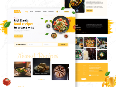 Food Recipe Landing Page medical education business agency food recipe food blog landing page food landing page food furniture minimal adobe photoshop figma mobile app apps design user interface user experience