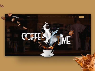 Coffee Shop Landing Page apps design user experience user interface food game fitness health furniture medical agency business adobe psd figma web design web template coffee shop landing page ux ui