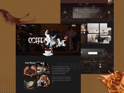 Coffee Shop Landing Page branding ui landing page coffee shop web template web design figma adobe business agency medical furniture health fitness game coffee food user interface user experience apps design