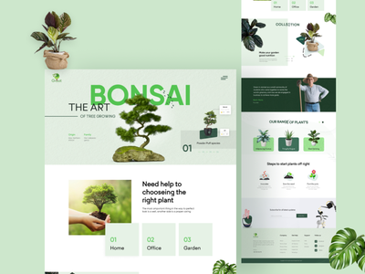 Plant Landing Page nature apps design user experience user interface food game fitness health furniture medical agency business figma web design web template landing page ux ui plantlanding page dribble
