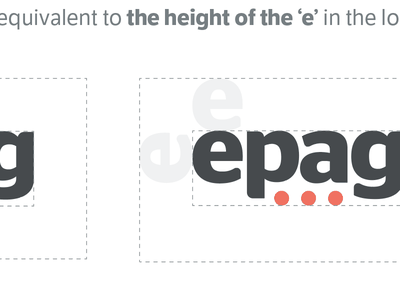 EPAG Clear Space guidelines dots branding logo logotype
