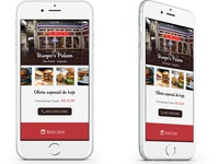 Iphone 6 Food App Mockup