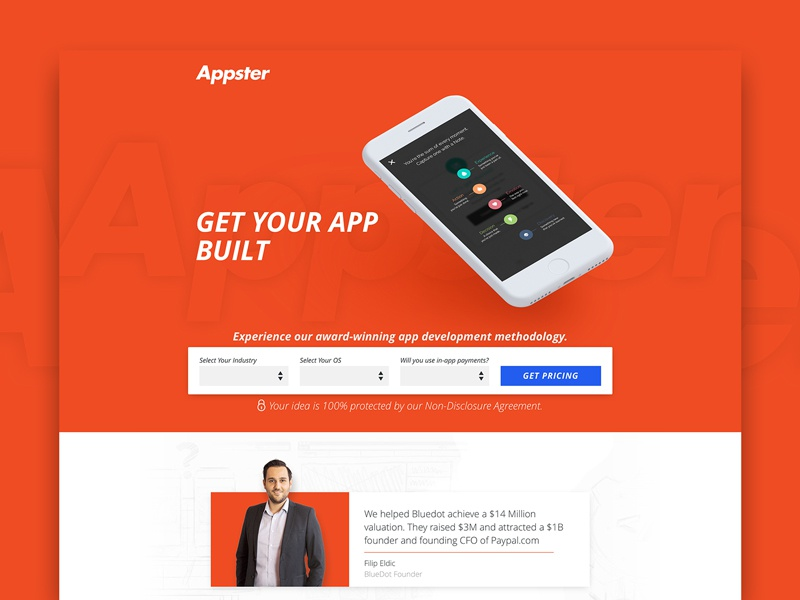 Appster Lead Generation Landing Page By Cody Chase Dribbble