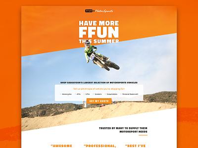 More Fun With FFUN ui dirtbike motorsports cta cro agency client web ux landing page