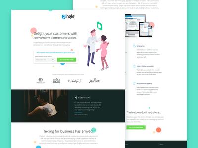 Zingle.me Landing Page agency tech web sms conversion landing page ux ui