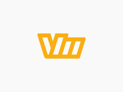 VM Mark modern abstract m v monogram brand logo